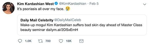 kim kardashain bad skin