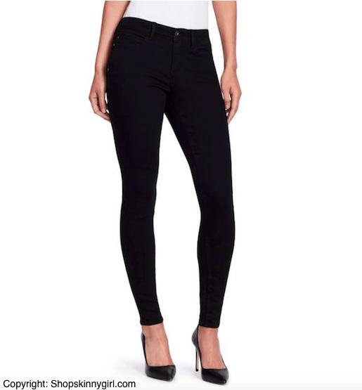 black jeans skinny girl