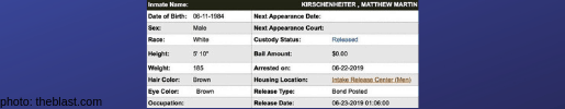 rhoc matt kirschenheiter jail record