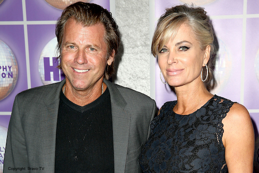 eileen davidson and husband at premiere