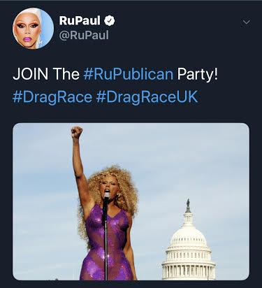 rupaul twerupaul tweet rupublicanset rupublicans