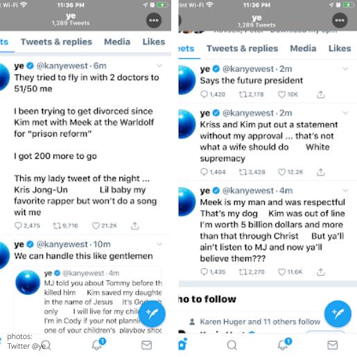 kanye tweets 5150 meek kim kardashian meek future president kris jenner