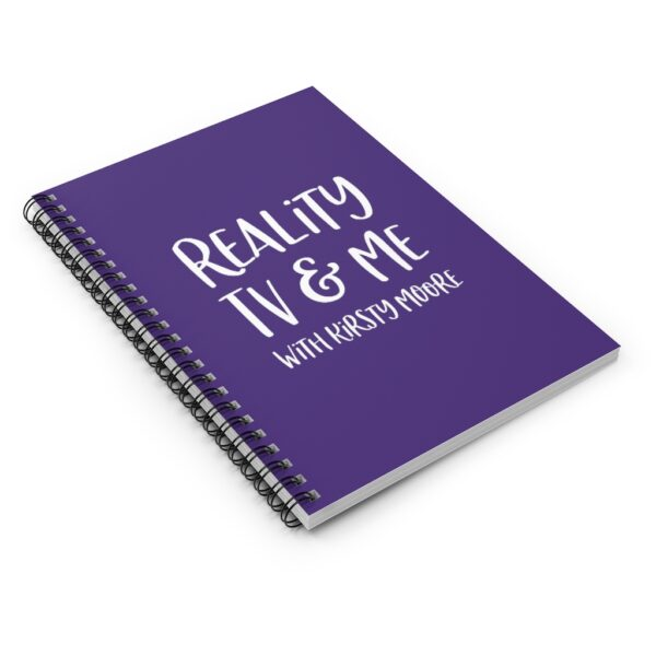 reality tv & me spiral notebook