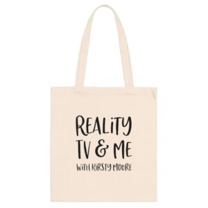 reality tv & me beige tote
