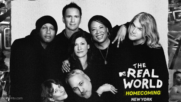 mtv the real world original cast returns homecoming new york Eric Nies, Julie (Oliver) Gentry Heather B. Gardner Kevin Powell Norman Korp, Andre Comeau Rebecca Blasband