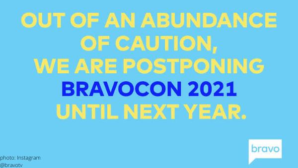 bravocon 2021 2022 covid delta variant nyc postponed rescheduled